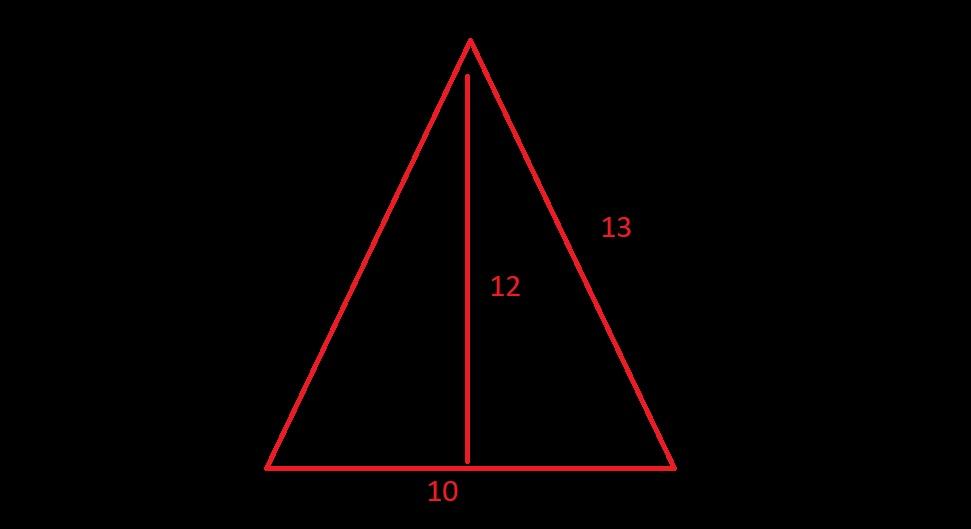 contoh soal luas segitiga sama kaki